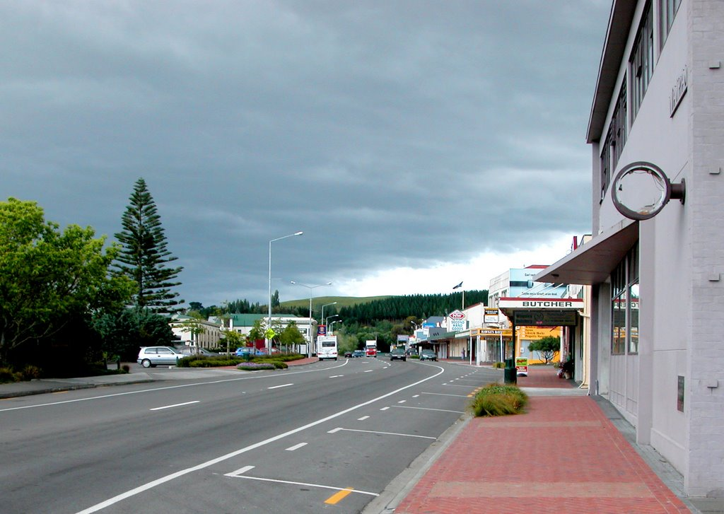 Waipawa High Street, looking South
