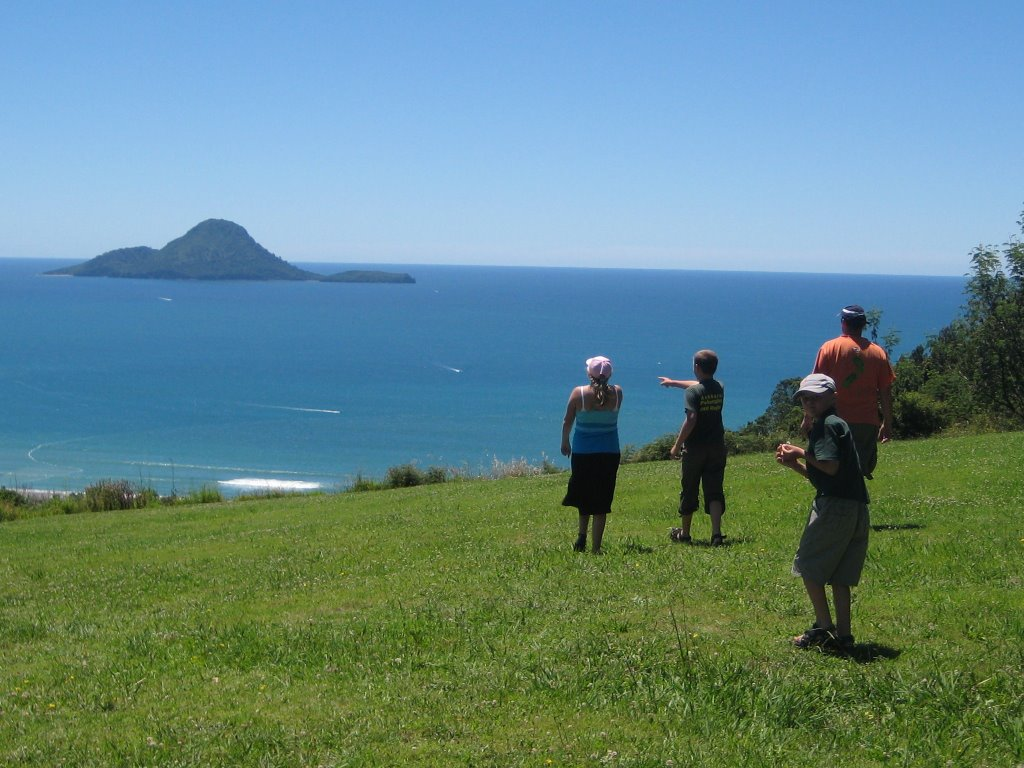 Whale Island, from Kohi Point Lookout, Whakatane