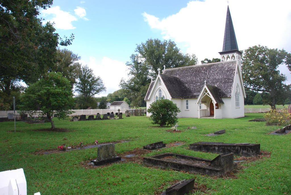 Holy Trinity Church in Pakaraka, NZ