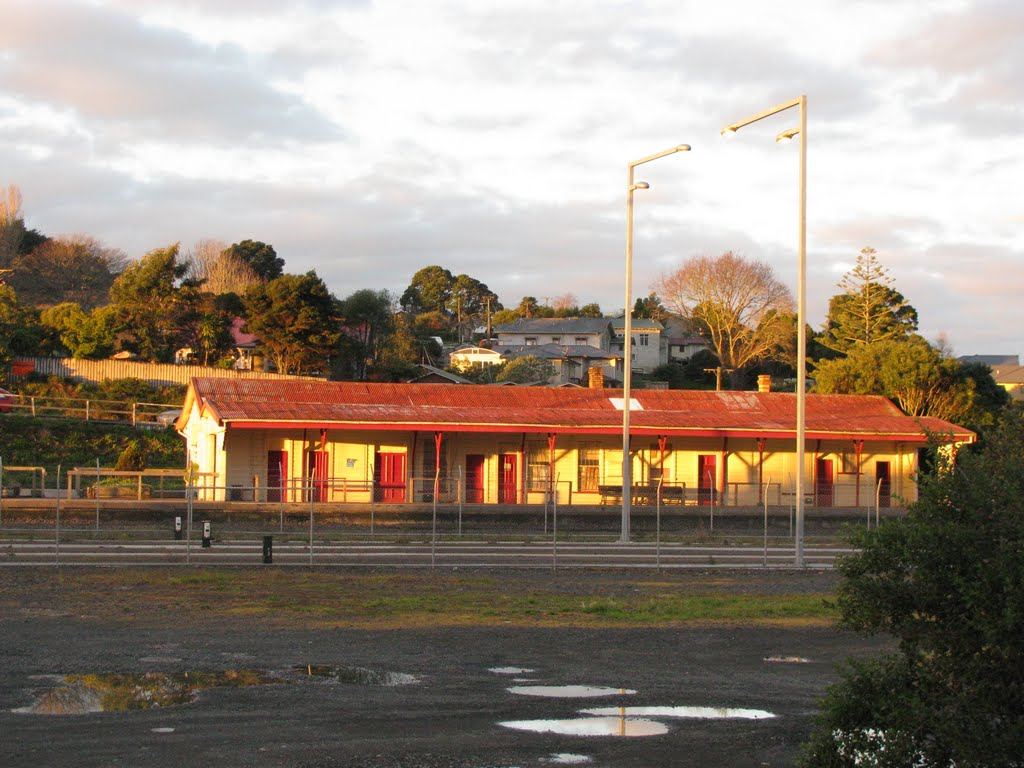 Sunset on The Pukekohe Railway Station