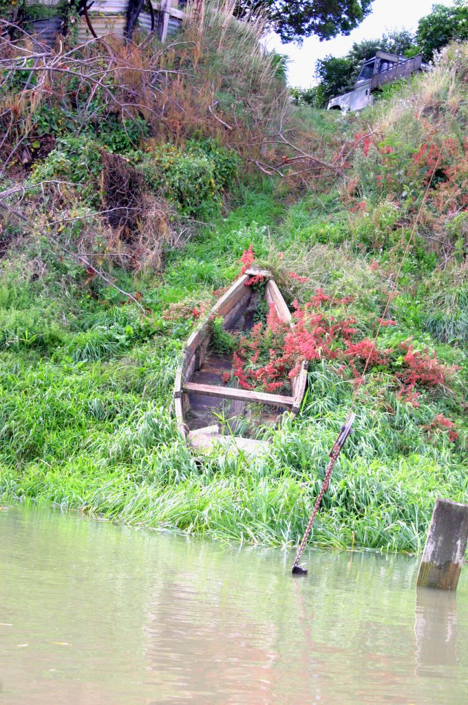 "Old rowing boat on the ""Foxton Loop"""