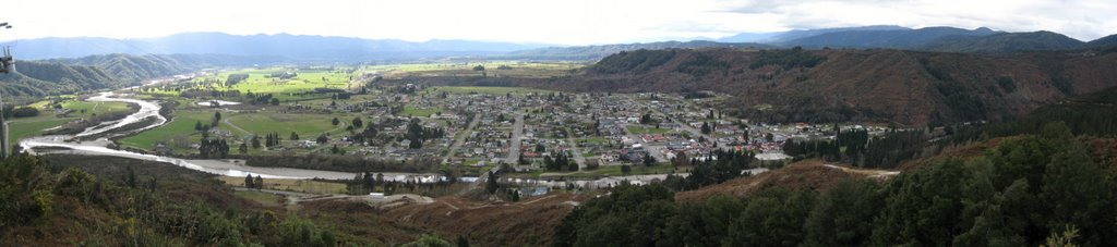 Reefton Panorama  My home town as a child