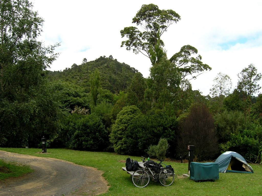 Alone in the campground at Tapu Creek
