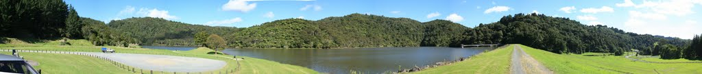 Water supply dam, Whau Valley. 270 degree pan
