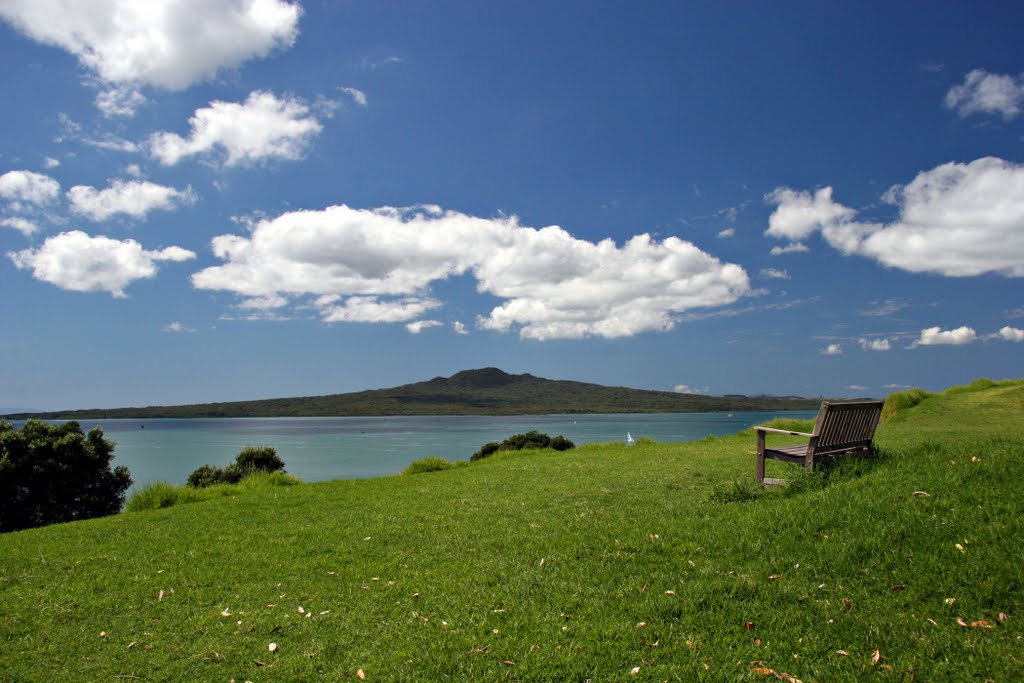 Rangitoto Volcano from North Head, Auckland NZ