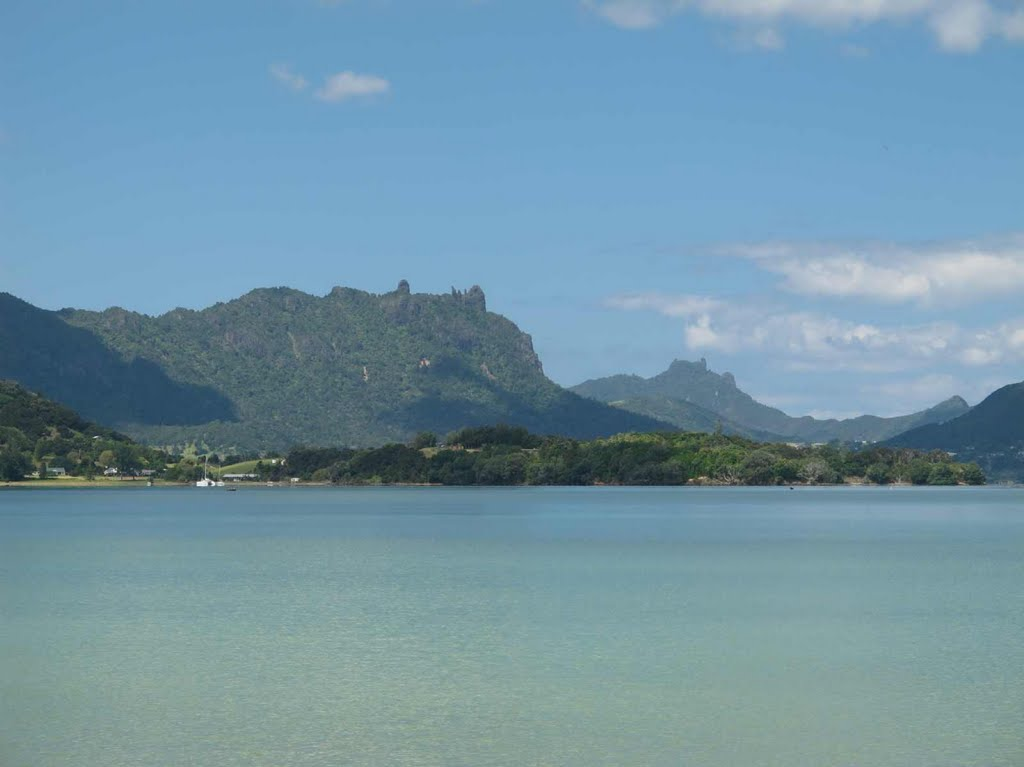 Mt Manaia and Bream Head (distant) from Parua Bay