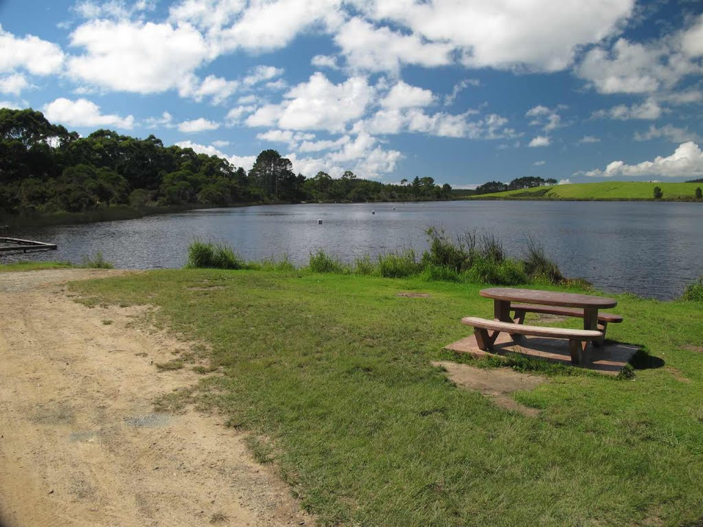 Lake Tomarata--the only lake of the 3 good for swimming with sandy coves