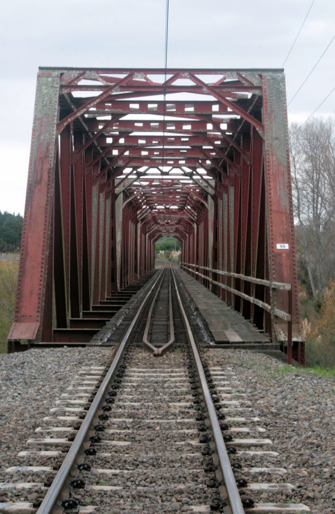 Truss rail bridge