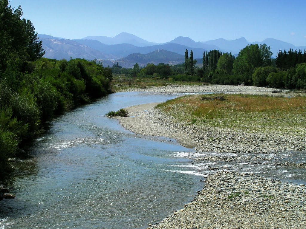 Crossing Motueka River at Tapawera and entering Tadmor Valley