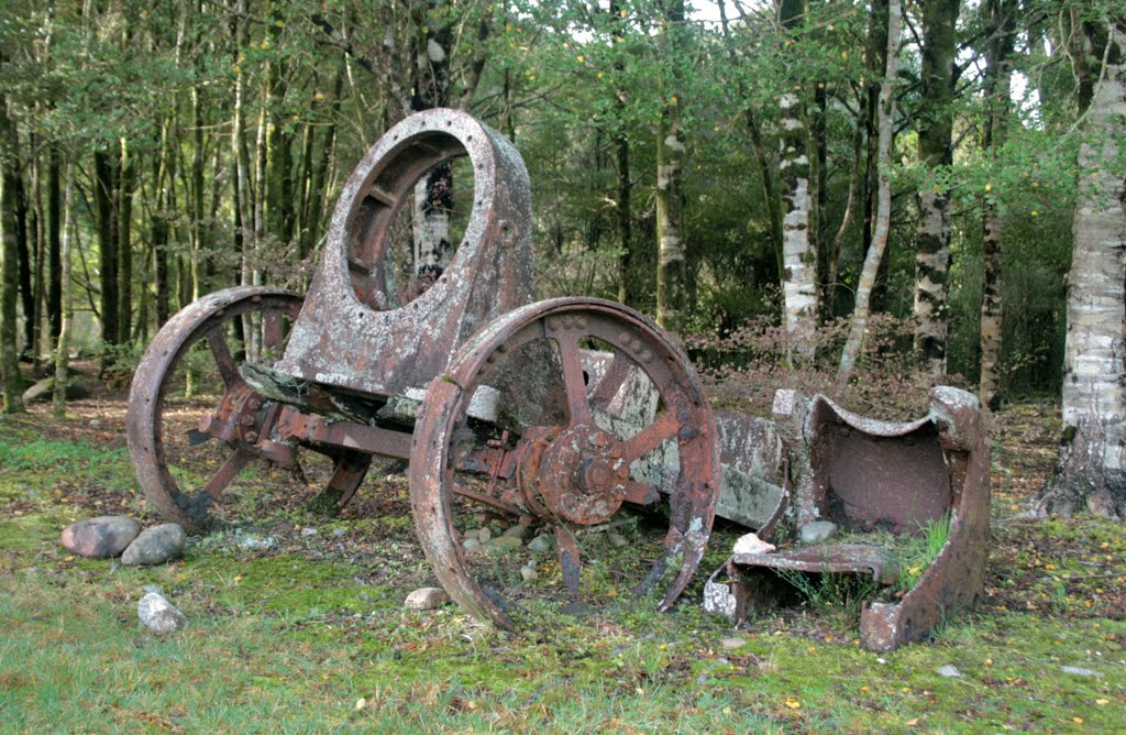Old gold mining machinery