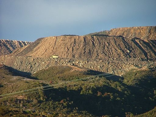 overburden heaps, Stockton Coal Mine