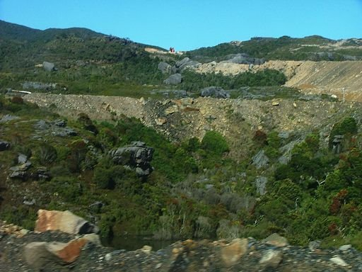 mining landscape, Stockton Mine