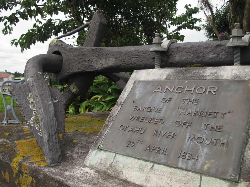 "The 1834 anchor of the shipwreck ""Harriett"""