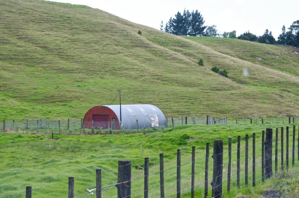 """Dad, not another Nissen Hut"" near Waipu"