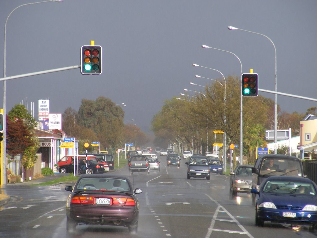 Rain. Vogel St, Palmerston North, NZ